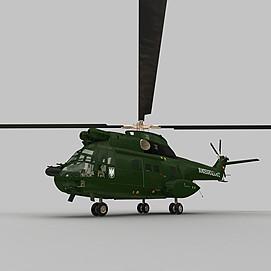 Puma战斗直升机3d模型