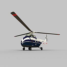 S-55武装直升机3d模型