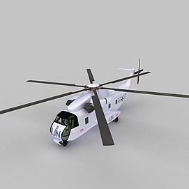 SIKORSKY武装直升机3d模型