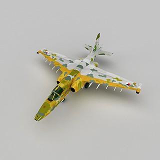 SU25战斗机3d模型