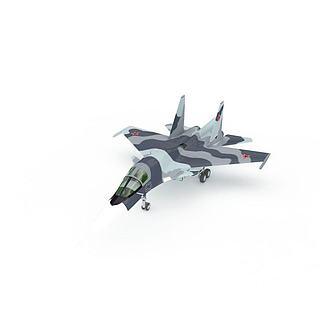 Sukhoi战斗机3d模型