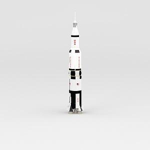 3d航天<font class='myIsRed'>火箭</font>模型