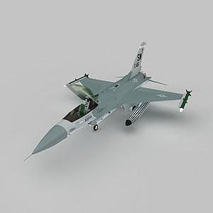 3d截击机模型