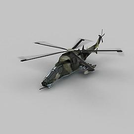 黑鹰直升机3d模型