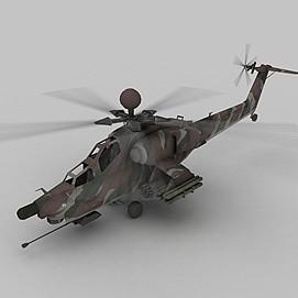 武装直升机3d模型