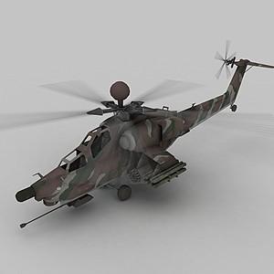 3d武裝<font class='myIsRed'>直升機</font>模型