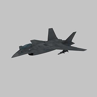 隐形战斗机3d模型