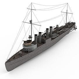 3dWICK40<font class='myIsRed'>軍艦</font>模型