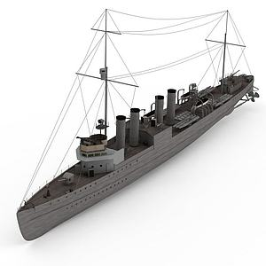 3dWICK40<font class='myIsRed'>军舰</font>模型