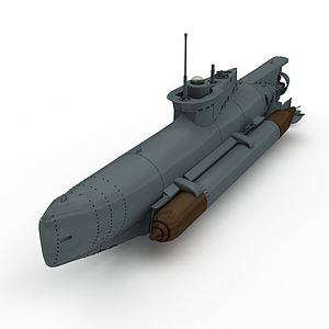 SEEHUND潛艇3d模型