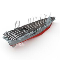 SHINANO航空母舰模型3d模型