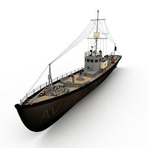 SCHASER军舰模型3d模型