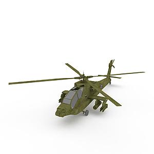 3d阿帕奇<font class='myIsRed'>直升機</font>模型