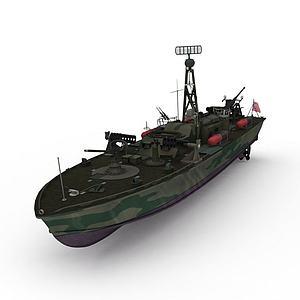 PT328军舰模型3d模型