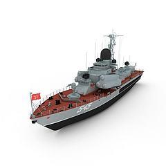 nanuchka军舰模型3d模型
