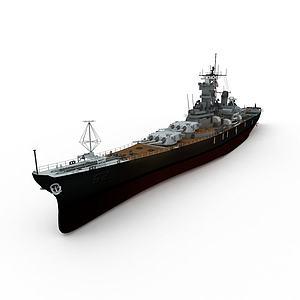 N.YERSEY军舰模型3d模型