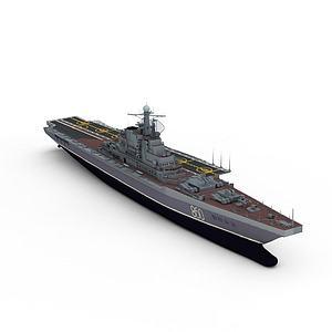Kiev航空母舰模型3d模型