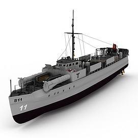 E-BOAT军舰3d模型