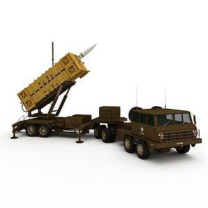 军用导弹发射装置模型3d模型