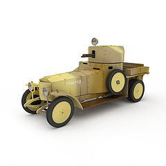 军用装甲车模型3d模型