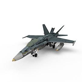 美国F18战斗机3d模型