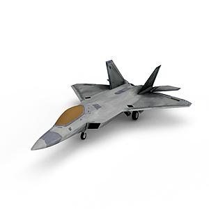3dF-22猛禽隐身战斗机模型