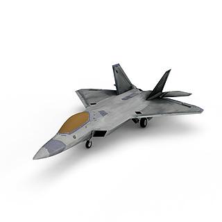 F-22猛禽隐身战斗机3d模型
