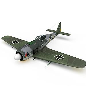 3d德国FW-190型战斗机模型