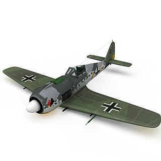 德国FW-190型战斗机3d模型