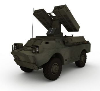 军队防空导弹车