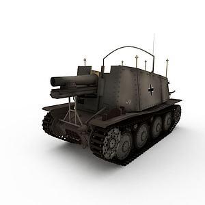 3d蘇聯SU-8自行火炮模型