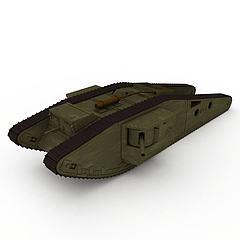 坦克装甲车模型3d模型