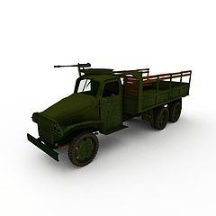 军队运兵车模型3d模型