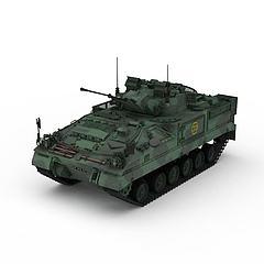 迷彩军用坦克模型3d模型