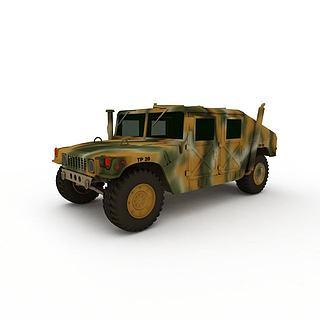 迷彩越野<font class='myIsRed'>车</font>3d模型