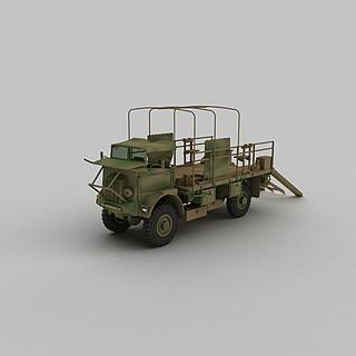 军事运输<font class='myIsRed'>车</font>3d模型