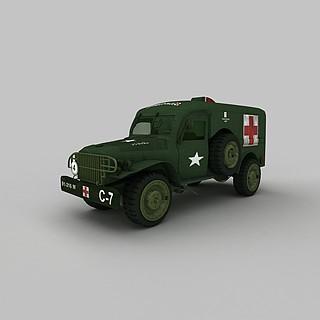 军用医护<font class='myIsRed'>车</font>3d模型