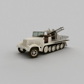 军事侦察<font class='myIsRed'>车</font>3d模型