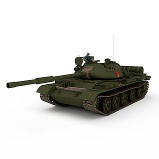 苏联T62A中型坦克3d模型