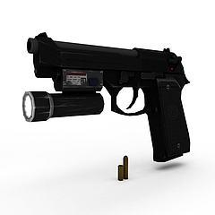 战术手枪模型3d模型