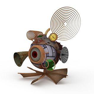 深水探测仪3d模型
