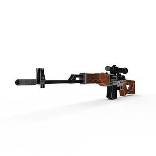 老式狙击步枪3d模型