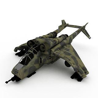 喷气式<font class='myIsRed'>飞机</font>3d模型