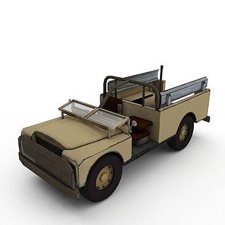 军用运兵车3d模型