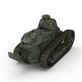 法国雷诺FT-17轻型坦克3d模型