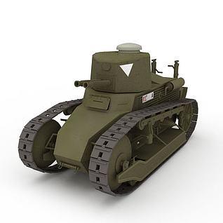 中式雷诺NC-31轻坦克3d模型