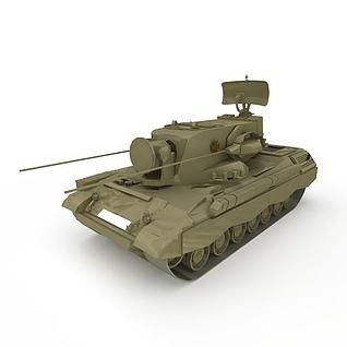 军用通信坦克3d模型