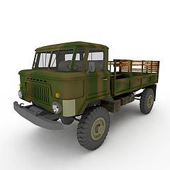 军用运输车模型3d模型