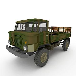 军用运输车3d模型