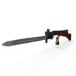 M1式加兰德步枪3d模型